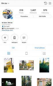 perfil de Instagram que pone marcos en las fotos